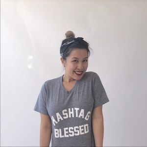 PRIVATE PARTY Hashtag Blessed T Shirt